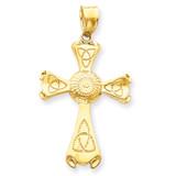 Celtic Cross Pendant 14k Gold C1945