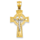 INRI Celtic Crucifix Pendant 14k Gold C2024