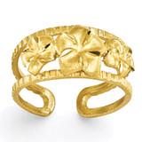 Plumeria Toe Ring 14k Gold C2064
