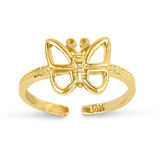 Butterfly Toe Ring 14k Gold C2067
