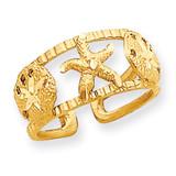 Starfish Toe Ring 14k Gold C2082