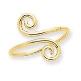 Swirl Toe Ring 14k Gold C2089