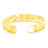 Toe Ring 14k Gold Diamond-cut C2095