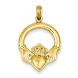 Claddagh Pendant 14k Gold Polished C2192