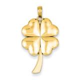 4-Leaf Clover Pendant 14k Gold Solid Polished C2199