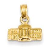 3-D White House Pendant 14k Gold C2239