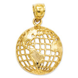 Globe Pendant 14k Gold Polished C2246