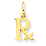 Prescription Symbol RX Charm 14k Gold C2272
