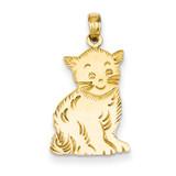 Cat Charm 14k Gold Polished C2358