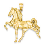 Open-Backed Horse Pendant 14k Gold Solid Polished C2410
