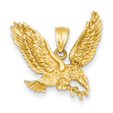 Eagle Pendant 14k Gold Solid Polished C2425