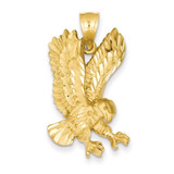 Eagle Pendant 14k Gold Solid Polished C2426