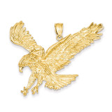 Eagle Pendant 14k Gold Solid Polished C2430