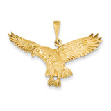 Eagle Pendant 14k Gold Solid Polished C2435