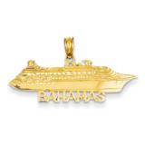 Bahamas Cruise Ship Pendant 14k Gold C2493