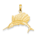 Sailfish Pendant 14k Gold Polished C2581