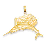 Sailfish Pendant 14k Gold Polished C2582