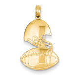 Football Pendant 14k Gold Polished C2667