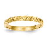 Rope Ring 14k Gold Diamond-cut C2860