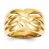 High Polished Woven Dome Ring 14k Gold C2863