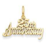 25th Anniversary Charm 14k Gold C287
