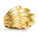 High Polished Dome Ring 14k Gold C2883