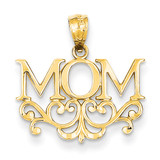 Mom Pendant 14k Gold C2982