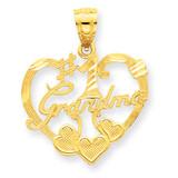 #1 Grandma Heart Pendant 14k Gold C2999