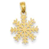 3-D Snowflake Pendant 14k Gold C3062