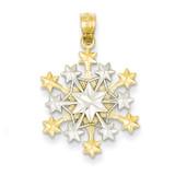 Snowflake Pendant 14k Two-Tone Gold C3063