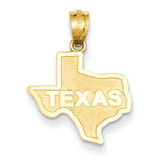 State of Texas Pendant 14k Gold C3070