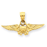 US Naval Flight Officer Pendant 14k Gold C3086