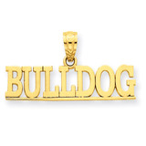 Bulldog Pendant 14k Gold C3088