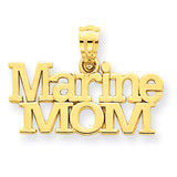 Marine Mom Pendant 14k Gold C3092