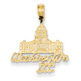 Washington D.C. Capitol Building Pendant 14k Gold C3097