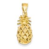 3-D Cut-Out Pineapple Pendant 14k Gold C3205