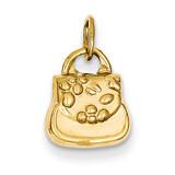 3-D Purse Charm 14k Gold C3219