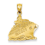 Cruise Ship Pendant 14k Gold C3312