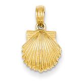 Scallop Shell Pendant 14k Gold C3377