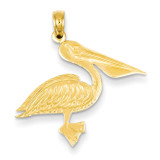 Pelican Pendant 14k Gold C3386
