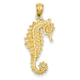 3-D Seahorse Pendant 14k Gold C3389