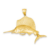 Sailfish Pendant 14k Gold C3425