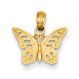 Cut-Out Butterfly Pendant 14k Gold C3471