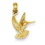 Hummingbird Pendant 14k Gold C3472