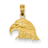 Eagle Head Pendant 14k Gold C3492