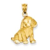 Dog Charm 14k Gold C35