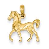 Standing Horse Pendant 14k Gold C3504