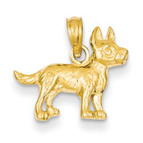 Terrier Dog Pendant 14k Gold C3507