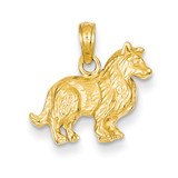 Collie Dog Pendant 14k Gold C3508