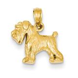 Schnauzer Dog Pendant 14k Gold C3509